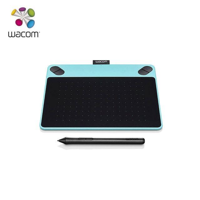 Wacom Intuos Draw Pen Small Tablet CTL-490 Graphics Digital Pen Tablet Blue