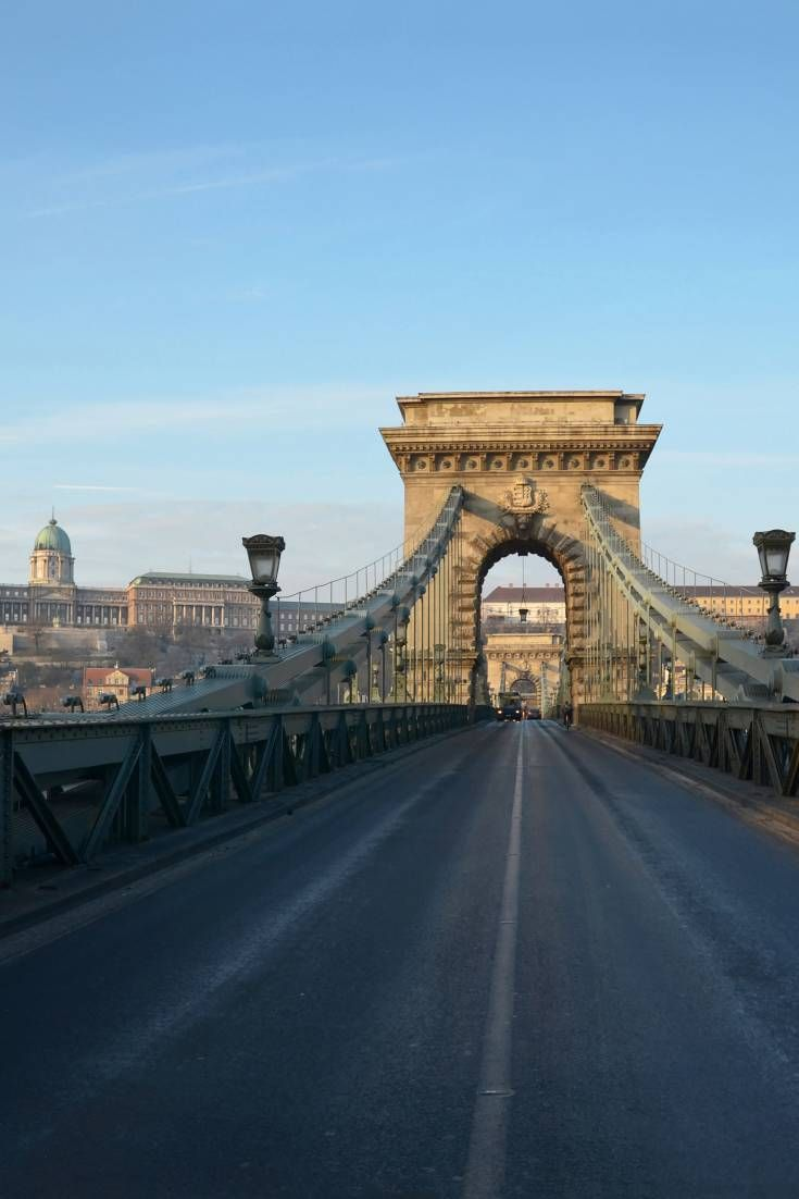 The Chain Bridge, one of Budapest's oldest and most recognizable landmarks, runs from the Castle hill on the Buda side to the famous Gresham Palace on the Pest side.