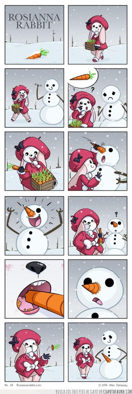 La fábula de la coneja viciosilla y el muñeco de nieve - para mas chistes: Click aqui