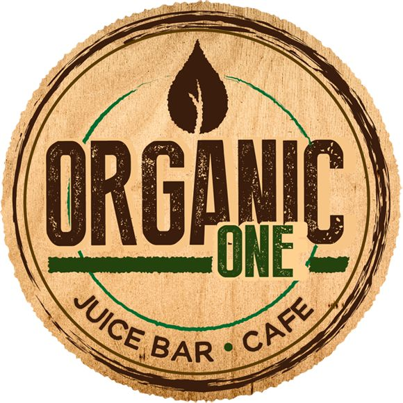 "This logo is made to look rustic, natural, and earthy. The color choices are brown, beige, and green which all enforce the idea of ""from the earth"". The font is strong and the proximity between the leaf and the brand name is consistent. The overall appearance of it looks like a stamp, which makes it seem like the company is ""branding"" themselves as the one organic juice bar to check out."