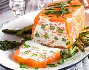 Recette Terrine de saumon fumé au fromage frais et asperges