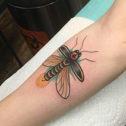 """Firefly tattoo I got for my siblings for """"National Sibling Day"""""""