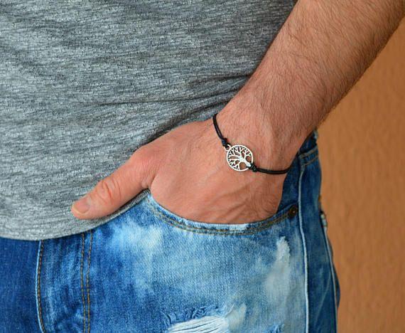 tree of life bracelet chakra bracelet black bracelet