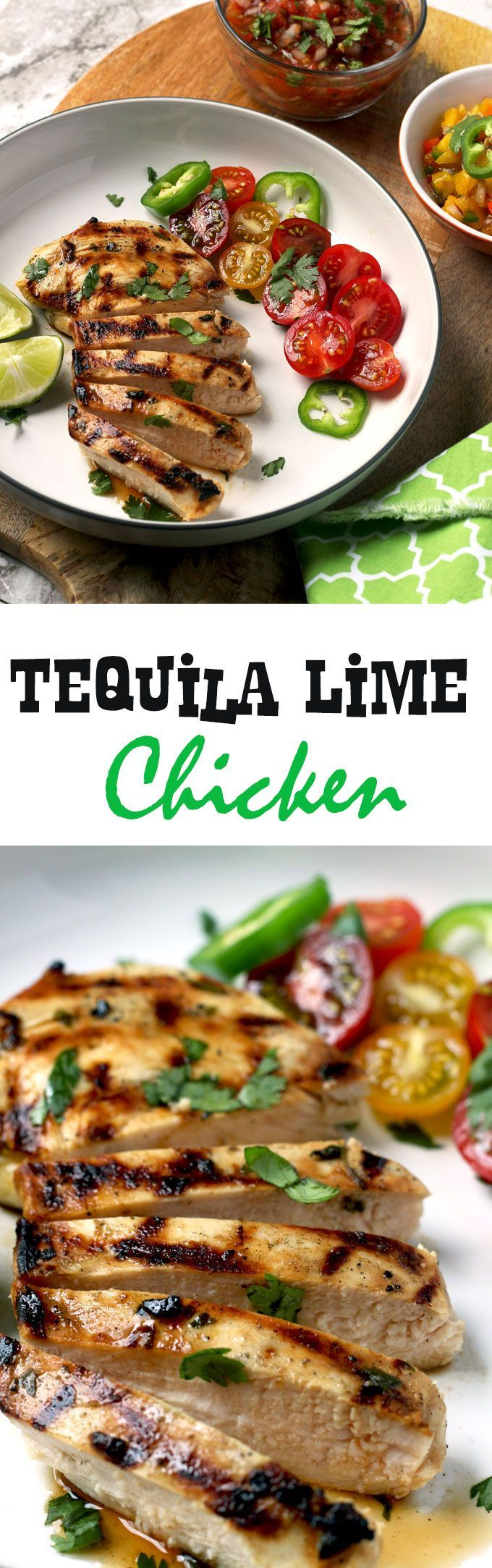 Easy, quick and incredibly flavorful. This grilled Tequila Lime Chicken is so