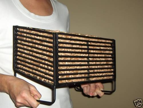 Wood Pellet Basket Insert for Wood Stoves, Burn Wood Pellets, Save On Heating. in Home & Garden, Home Improvement, Heating, Cooling & Air | eBay