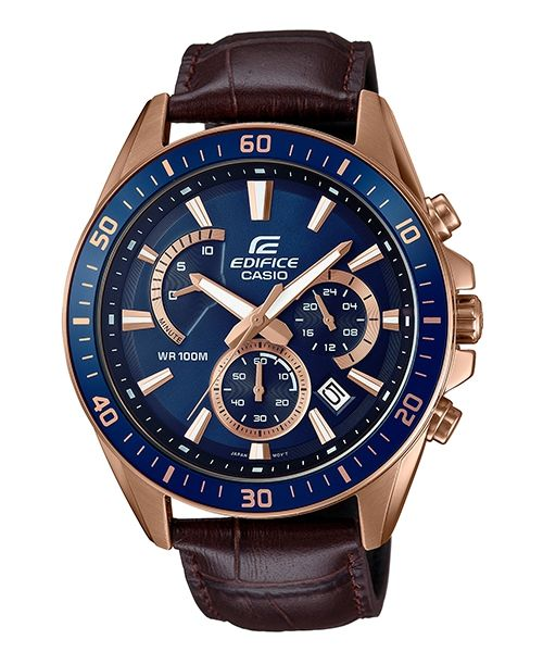 Casio Edifice EFR-552GL-2AVUDF - For Men Price In Pakistan  PRODUCT DESCRIPTION . Case / bezel / strap Material: stainless steel . Leather strap . Mineral glass . Spiral crown . Waterproof 100 meters . Chronograph: Measuring unit: 1 second measurement limit: 9'59 . Date display .  Visit Our Website: http://www.available.pk/