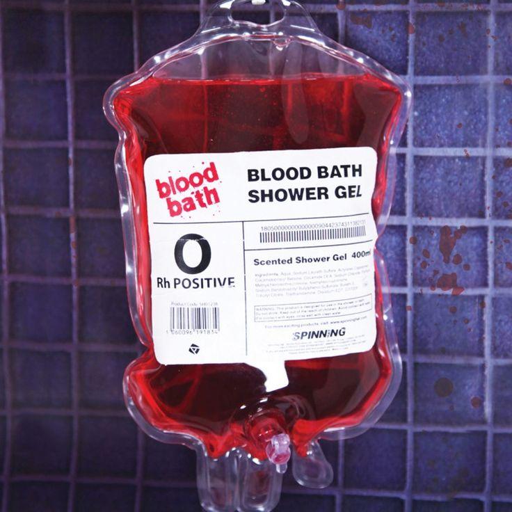 Badkamer - Bloed Douchegel - Niet alleen met Halloween een succesvolle horror-show in de badkamer!