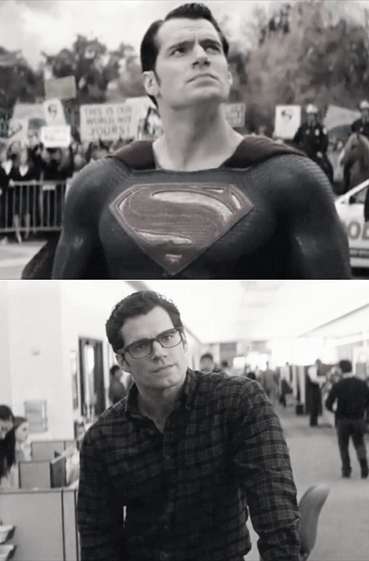 Superman/Clark Kent, played by Henry Cavill. He is one good-looking guy