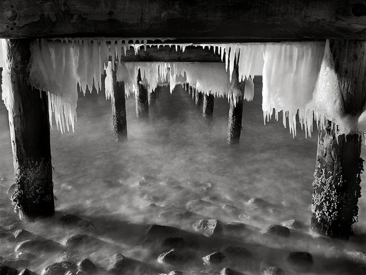 Ice Under Pier Martha's Vineyard Island Photographed with a 4X5 Toyo field camera and 90mm Super Angulon lens.