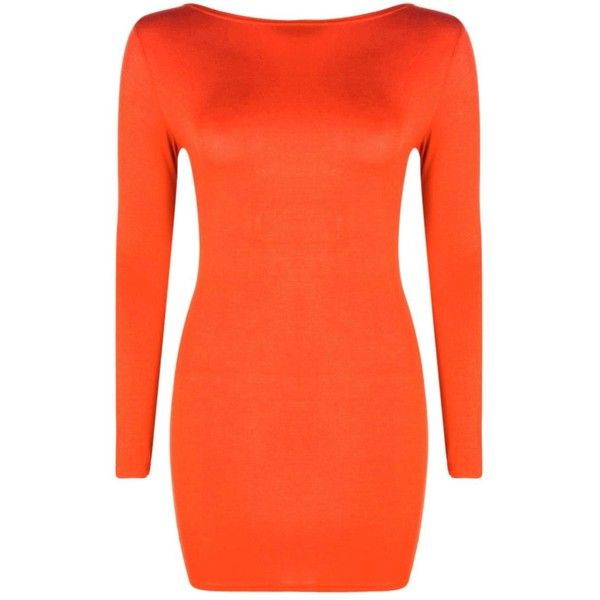 Boohoo Petite Cara Lace Up Back Detail Bodycon Dress | Boohoo ($12) ❤ liked on Polyvore featuring dresses, body con dress, bodycon cocktail dress, orange cocktail dress, lace front dress and laced dress