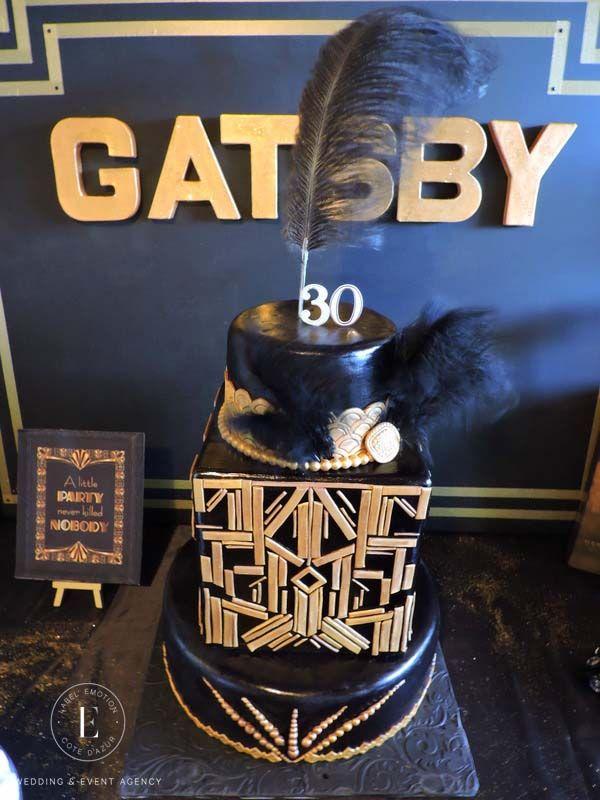 Gatsby Décoration Event Gatsby Wedding Gatsby Soirée Gatsby Mariage Gatsby Thème Gatsby Les années folles Cakedesign Gatsby, Weddingcake Gatsby, Cake Gatsby