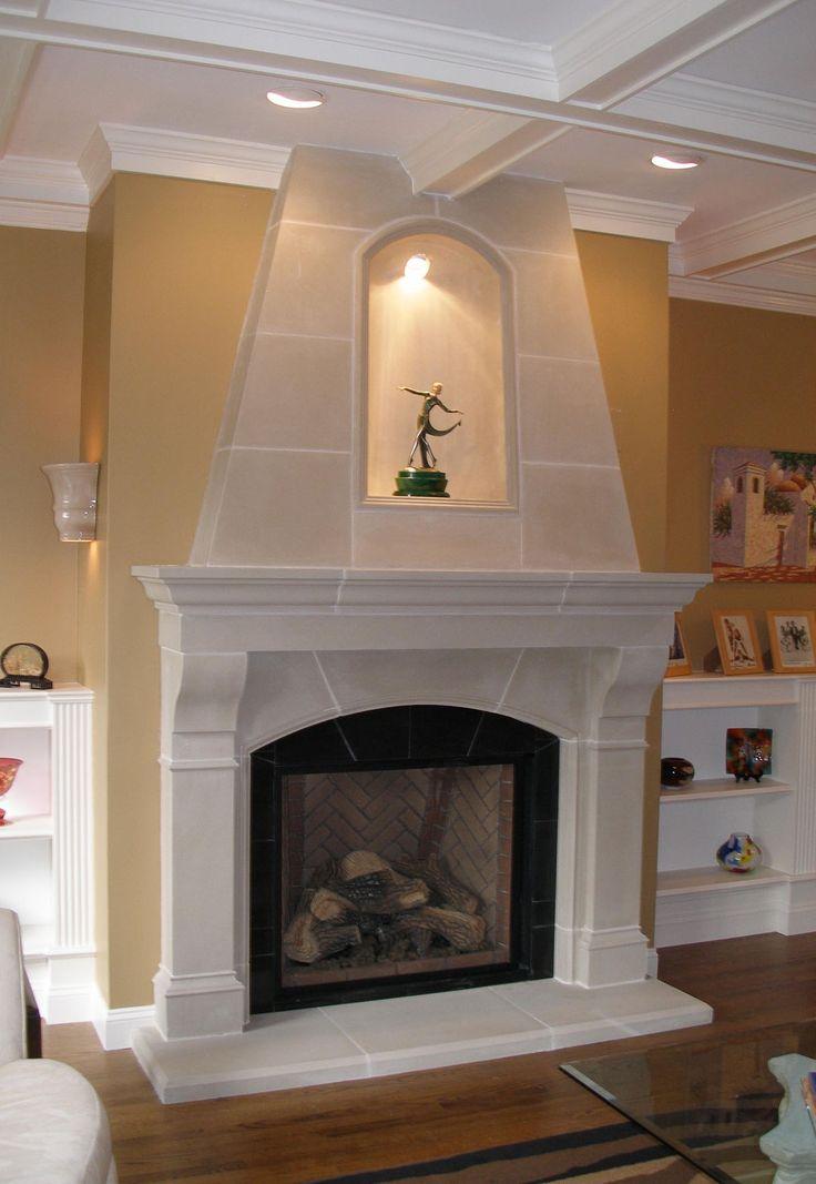 Fireplace Cast Stone Fireplace Mantels Beautiful Style On Mantels Pinterest