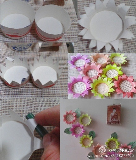 Paper Cup To Flowers Would Be Cute For A Little Girls Room Dd