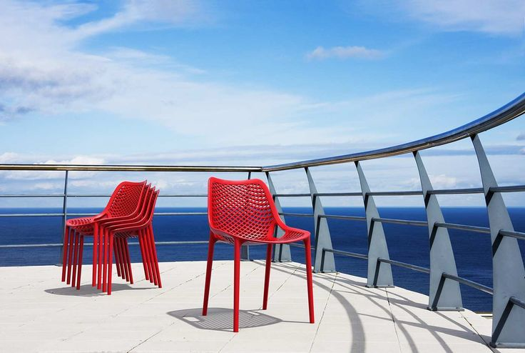 Stuhl AIR  Kunststoff rot