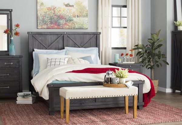Laurel Foundry Modern Farmhouse Langsa Panel Bed Reviews Wayfair Country Living Room Design Bedroom Design
