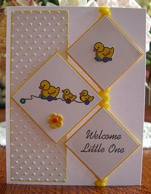 Nice layout. I like the polka dot emssing folder along the left side and the small bits of yellow to highlight the card