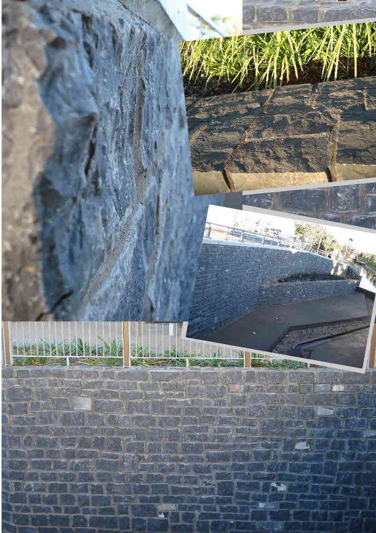 Toowoomba Bluestone (Basalt) Walling