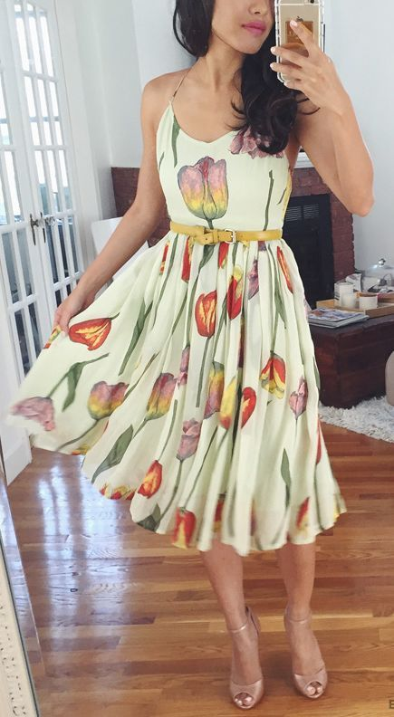 Floral Dress Styling by Extra Petite