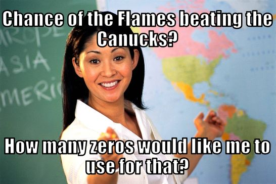 Canucks Flames Memes Unhelpful Teacher