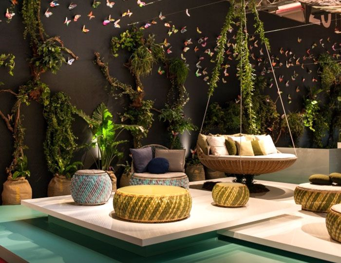 Modern Outdoor Furniture and Shadings from Salone del Mobile 2014 garden furniture comfortable outlook dedon