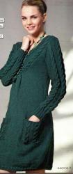Схема вязания: Стильное вязаное платье | Пуловеры спицами - petelka.net