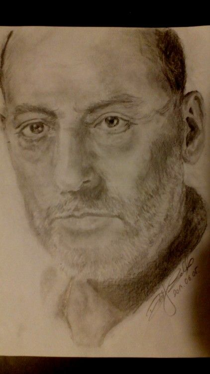 Jean Reno-pencil drawing-portrait