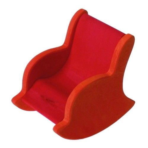 Grimm's Wooden Dollhouse Rocking Chair, Red.