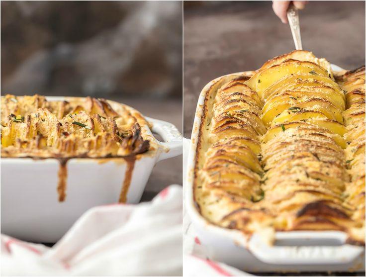 Cheesy Garlic Herb Scalloped Potatoes