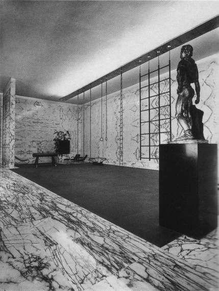 IT, Roma, Palestra del Duce al Foro Italico. Architect Luigi Moretti, 1937.