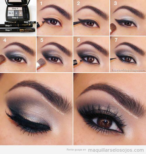 Maquillaje de ojos paso a paso, estilo ahumado y felino