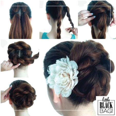 The Double Rope Braid Bun is a chic way to style your hair for any season! This hairstyle easy to do and super sturdy. Whether you are natural or relaxed you can do this hairstyle. #lbbcoza