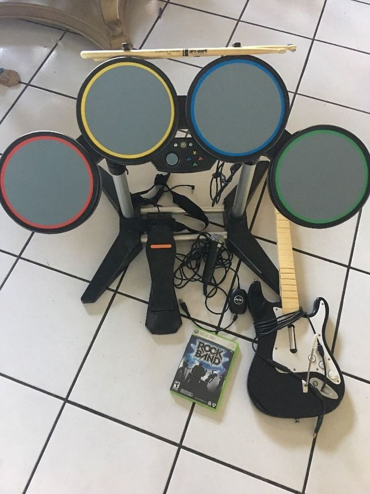 Rock Band: Xbox 360 Bundle: Game, Guitar, Drums, Microphone