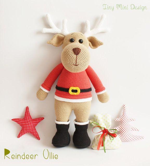 cool Amigurumi Ren Geyiği Ollie- Amigurumi Reindeer Ollie