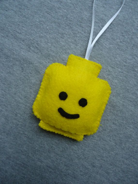 Lego Head Felt Ornament  FREE SHIPPING US by Tuscanycreative, $8.00