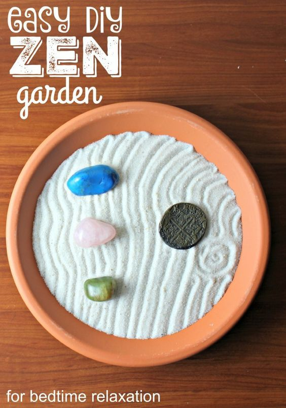 This DIY Zen Garden for Bedtime Relaxation is a part of a healthy bedtime routine.Great for stress relief. ad @netflix #StreamTeam