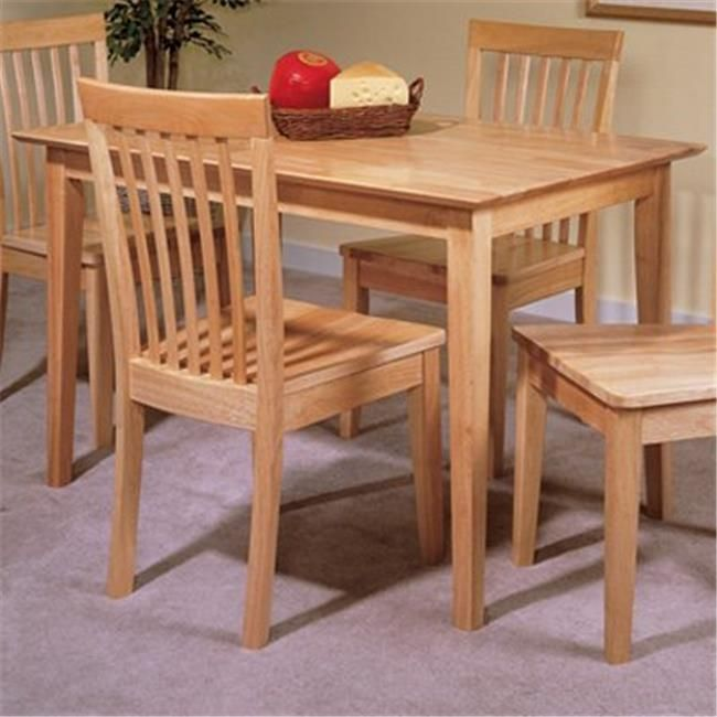 Inroom Furniture Designs D6680 1 Table Natural Finish Dining