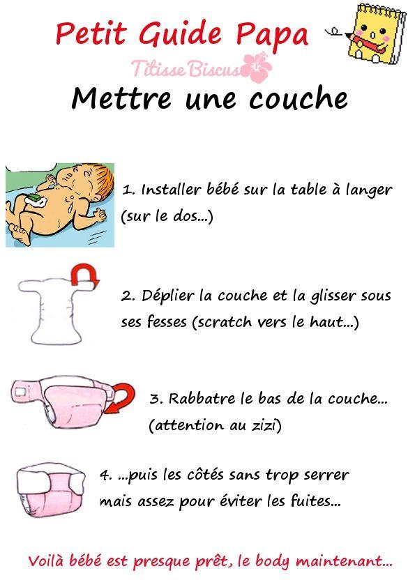 Guide couche