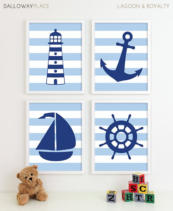 Nautical Nursery Art Nautical Nursery Decor by DallowayPlaceKids