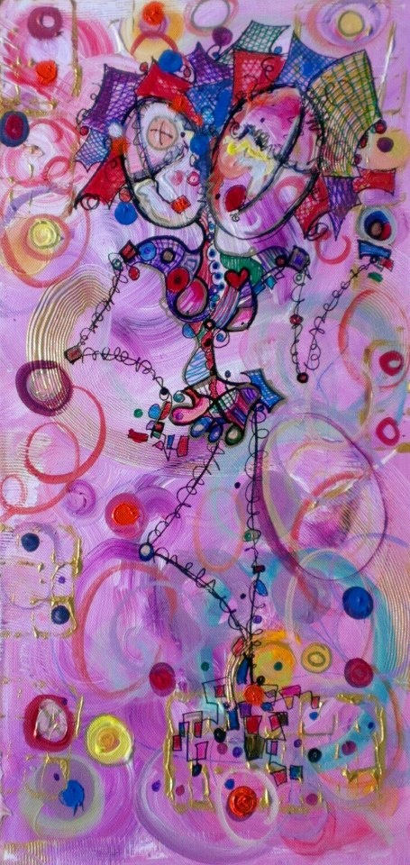 Soul Sister - Canvas 12 x 24 by Kim Dean