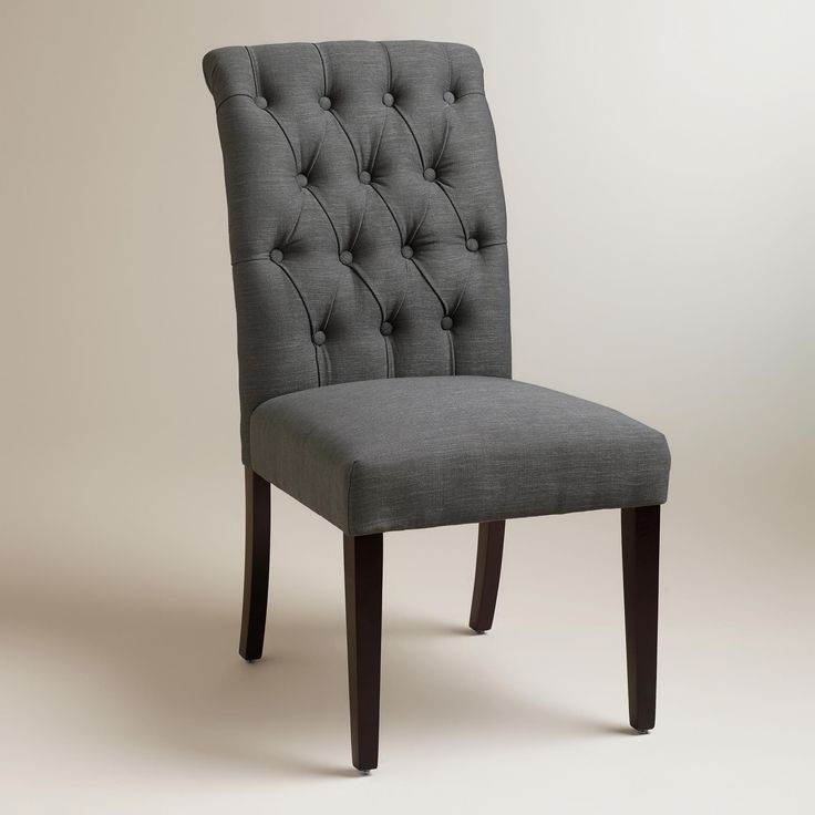 The Refinement Of Our Moss Harper Dining Chairs Are Defined By Lavish Tufting And Curved Silhouette