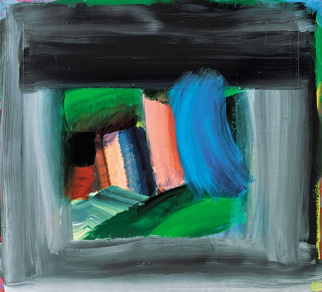 Rain, 1984-9 by Howard Hodgkin. Tate custom print