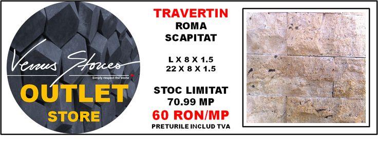 TRAVERTIN roma scapitat lx8x1,5-22x8x1,5O