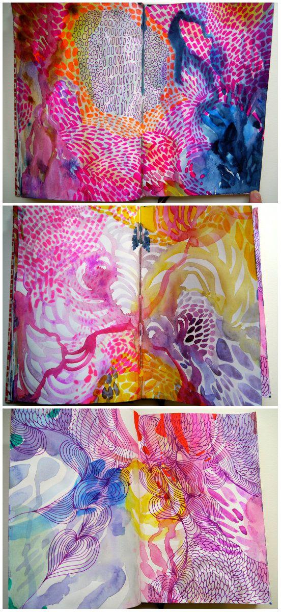 Inside my sketchbook. www.helenwellsartist.co.uk