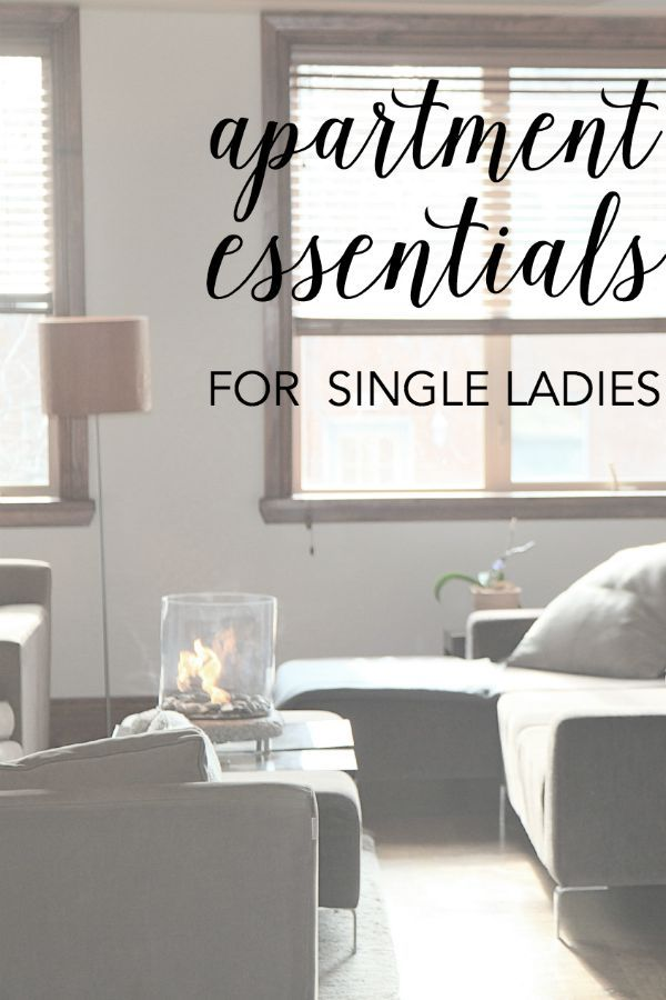 Apartment Essentials For Single Ladies - this list is actually pretty good!