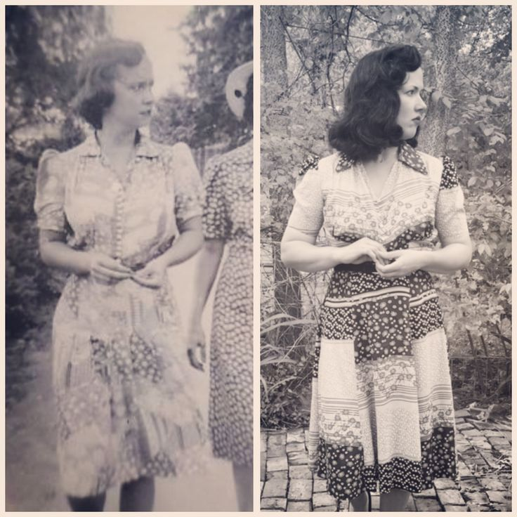 McCall's 3610 from 1940, with my Nana in 1940 on the left