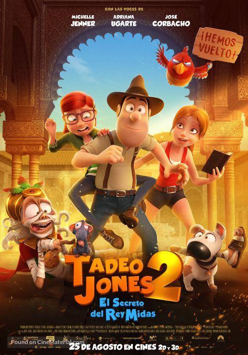 Tad Jones The Hero Returns Spanish Movie Poster Peliculas Online Estrenos Cine De Animacion Peliculas Infantiles De Disney