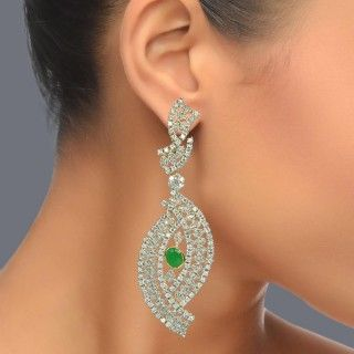 Featuring this beautiful Silver Emerald Earrings in our wide range of earrings. Grab yourself one. Now!