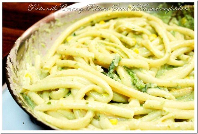 Spaguetti con salsa de chile Poblano-6