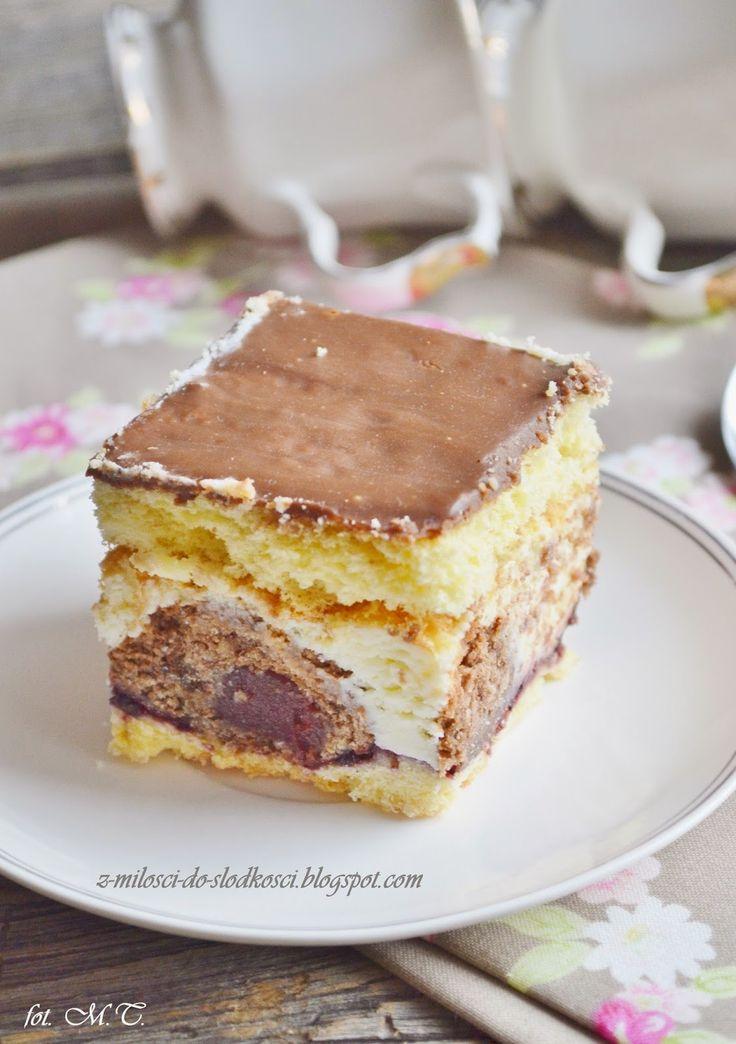 Z miłości do słodkości...: Ciasto Bawole oczy według Siostry Anastazji