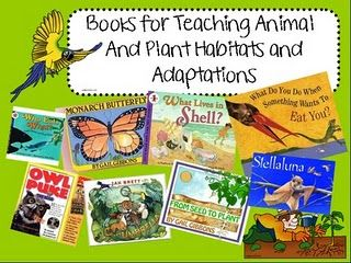 This is a wonderful source for books that teaching about animal and plant habitats. For our unit we would only focus on the animal habitats and adaptations.